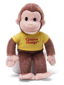 おさるのジョージ ぬいぐるみ 8インチ イエロー GUND社製 7843y キュリアスジョージ Curious George Tシャツ 赤 ひとまねこざる おもちゃ 絵本 輸入 メール便不可