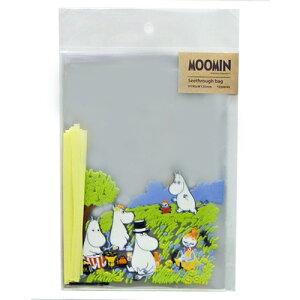 ムーミン シースルーバッグM ピクニック 10枚入 11051 MOOMIN ラッピング 袋 包装 透明 クリア お菓子 送料込み メール便配送