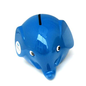Norsu (ノルス) エレファントバンク 貯金箱 (ブルー) pud036 青 北欧 フィンランド 北欧雑貨 グッズ 小物 インテリア 雑貨 インテリア雑貨 置物 おしゃれ かわいい メール便不可