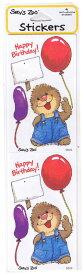 スージーズー ステッカー Ollie 【9649】 704  Suzy's Zoo シール マーモット Happy Birthday 誕生日 おめでとう キャラクター 雑貨 グッズ 送料無料 メール便配送【ds】
