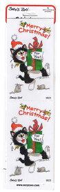 スージーズー ステッカー ネコ Christmas 【9823】 701 Suzy's Zoo シール Merry Christmas For You キャラクター 雑貨 グッズ 送料無料 メール便配送【10】