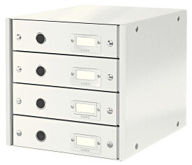 LEITZ ライツ クリック&ストア 4段ユニット A4【まとめ買い3個セット】ホワイト 6049-00-01