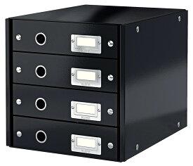 LEITZ ライツ クリック&ストア 4段ユニット A4【まとめ買い3個セット】ブラック 6049-00-95