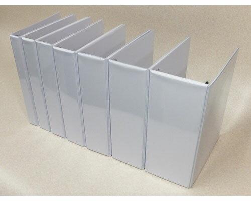 白ファイル 2穴パイプバインダー 金具幅4cm SF04A4
