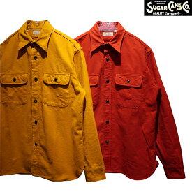 """【送料無料】 SUGAR CANE(シュガーケーン) FICTION ROMANCE """"9.5oz. HEAVY TWILL with MARBLE BUTTON/ヘビーツイルウィズマーブルボタン"""" SC28753 メンズ アメカジ ネルシャツ ワークシャツ 日本製"""