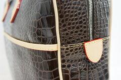 出張メンズレディースビジネスバッグ型押バッグ男女共用brownブラウン茶牛革レザーヌメ革クロコ高級バッグバッグトリバレンテtrivatenteDIRIGENTEデリジェンテトリバレ10P03Sep16
