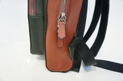 【TRIVALENTEトリヴァレンテURBANO(ウルバーノ)Khakiカーキ】backpackバックパックリュックビジネスバイカラーツートン本革アルチェカーフ男女兼用イタリア製Itaryミラノサファイアーノレザープレゼントギフトラッピング