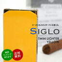 【SIGLO LIGHTER TWINFLAME YELLOW and CHECKERS シグロ社製 ツインフレームライター イエローアンドチェッカー】 ターボライター 電子…