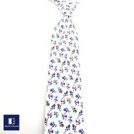 フランコバッシ ネクタイ FRANCO BASSI tie メンズ 花 小紋 ドット イタリア Itary プレゼント ギフト ラッピング ブランド 送料無料 正規品 直輸入 数量限定 父の日