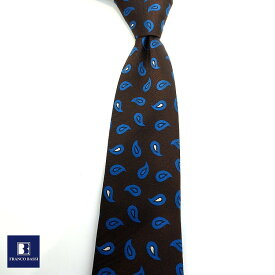 フランコバッシ ネクタイ FRANCO BASSI tie メンズ ブラック ブルー ホワイト ペイズリー シルク100% イタリア Itary プレゼント ギフト ラッピング ブランド 送料無料 正規品 直輸入 数量限定 父の日