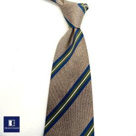 フランコバッシ ネクタイ FRANCO BASSI tie メンズ グレー ブルー グリーン レジメンタルストライプ シルク100% イタリア Itary プレゼント ギフト ラッピング ブランド 送料無料 正規品 直輸入 数量限定 父の日