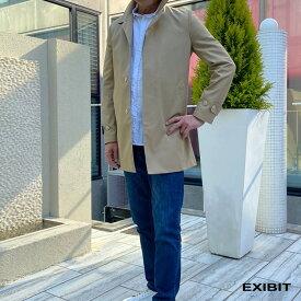 EXIBIT(エクシビット)ステンカラーレインコート ベージュ メンズ 男性 インポート import イタリア Itary 海外 現地買付 exi_imd5134_be
