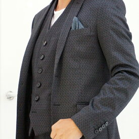 EXIBIT(エクシビット)ストレッチジレ ベスト メンズ 男性 秋冬 インポート import イタリア Itary 海外 現地買付 黒 ブラック 総柄 44/46/48/50/52サイズ対応 S/M/L/XL