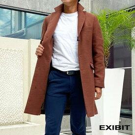 EXIBIT(エクシビット)ブラウンコート 茶 メンズ 男性 インポート import イタリア Itary 海外 現地買付 exibit_cpd754_br