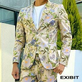 EXIBIT(エクシビット)ボタニカル花柄ジャケットセットアップOK メンズ 男性 インポート import イタリア Itary 海外 現地買付 exibit_gcd32791_mr