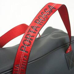 【PORTAROSSAPVCBostonbagPVC加工素材ボストンバッグ】大型約36Lビッグロゴイタリア製Itaryブラックblack水に強いソフト軽量レッドテープ赤red出張旅行トラベルゴルフバッグプレゼント誕生日ギフト父の日クリスマスMADURO雑誌掲載