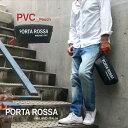 【PORTAROSSA PVC pouch PVC加工素材 ポーチ】スポーツバッグ ビッグロゴ ストラップ シグネチャ イタリア製 Itary ブラック black ソ…