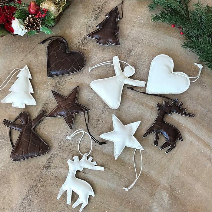 クリスマス XMAS Xmas 早割 オーナメント ツリー キャンドル 飾り 北欧 おしゃれ レザーツリーオーナメント Mサイズ