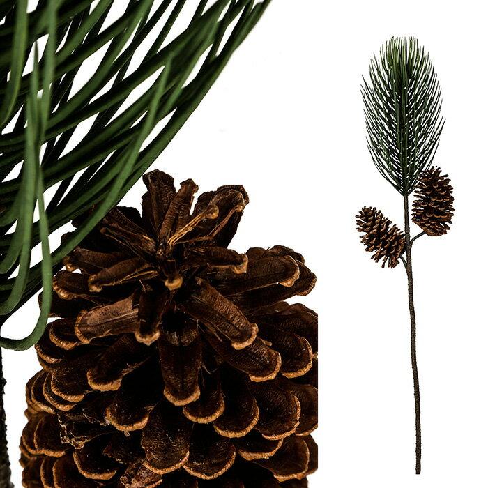 北欧雑貨 造花 花びん 花瓶 花器 フラワーベース マツボックリ ブラウン