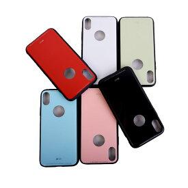 【ネコポス送料無料】 iphoneX ケース 9H iphone アイフォンX 軽量 スマホケース カバー ハード ガラス ケース 指紋防止 携帯カバー 携帯ケース アイフォンXケース ワイヤレス充電器対応 case glass ガラスケース
