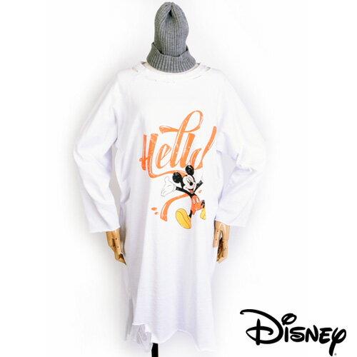 【送料無料】ディズニー トレーナー レディース 大きいサイズ ミッキー ディズニー ロング丈 レディースルームウェアー ロゴ オーバーサイズ ヴィンテージー Disney トレーナー ルームウェアー Helloミッキーワンピース