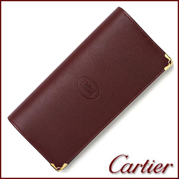 【並行輸入品】 カルティエ Cartier 財布 メンズ レディース 長財布 小銭入れ付き マスト ドゥ カルティエ L3001362 ボルドー