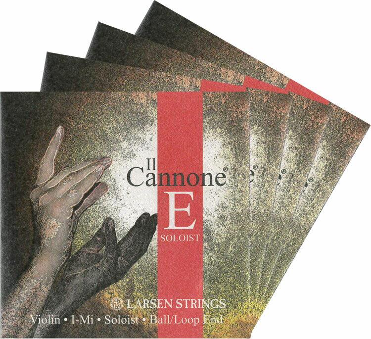 【Larsen Il Cannone Soloist】ラーセン イルカノーネソリストバイオリン弦 SET<取り寄せ商品>