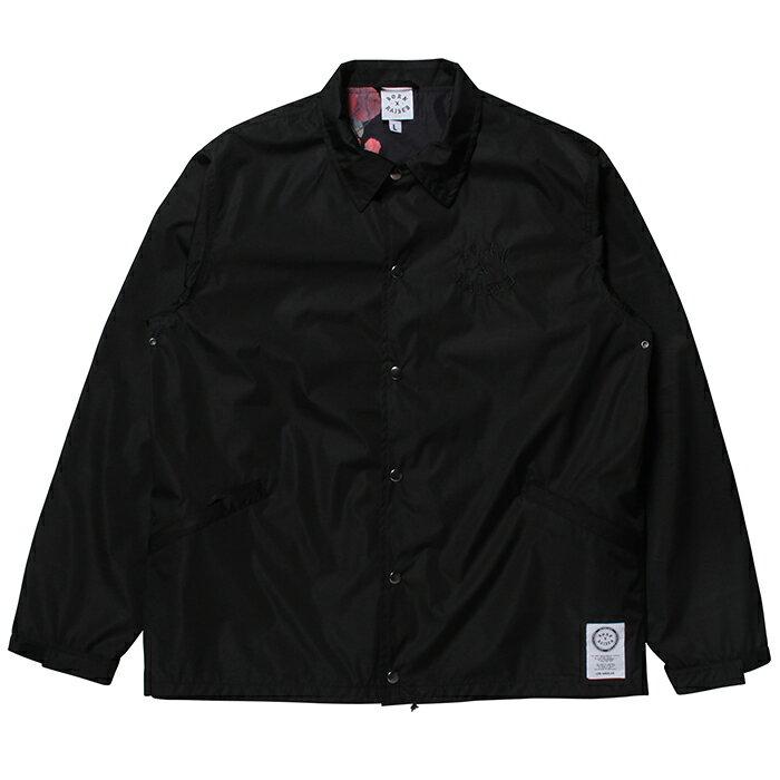 BORN X RAISED ボーンアンドレイズド JAY HOVA JACKET [33002] BLACK ジャケット ブラック bornxraised ナイロンジャケット コーチジャケット