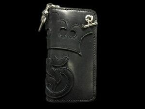 GABORATORY GABOR ガボール ガボラトリー G&Crown Overlay Saddle Leathe Round Zip Wallet (Black&Blue) [RZ-05] silver 正規代理店 シルバー ゴールド メンズ アクセサリー ペンダント シルバー925 10k 18k