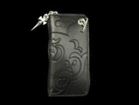 GABORATORY GABOR ガボール ガボラトリーAtelier Mark Overlay Saddle Leather Round Zip Wallet (Slim Type・Black) [RZ-06]silver 正規代理店 シルバー ゴールド メンズ アクセサリー ペンダント シルバー925 10k 18k