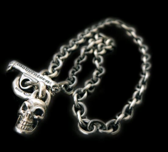 gaboratory gabor ガボール ガボラトリー Half skull with O-ring & 7chain necklace [N-132] silver 正規取扱店/シルバー メンズ アクセサリー ネックレス チェーン スカル 925 シルバー925