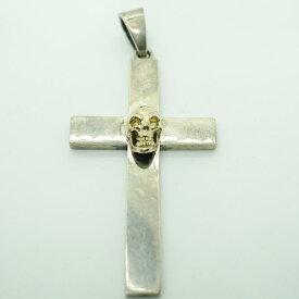gaboratory gabor ガボール ガボラトリー 10k Skull On Plain Cross Pendant (Small) [P-218] 正規取扱 メンズ アクセサリー ペンダント スカル ゴールド シルバー 925