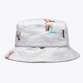 DIAMOND SUPPLY CO PIN UP BUCKET HAT (WHITE)
