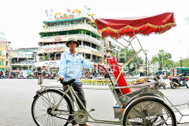 【ベトナムの風景ポストカードのAIR】ベトナム シクロマンのはがきハガキ葉書 撮影/YOSHIO IWASAWA
