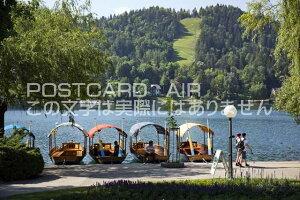 【スロベニアの風景ポストカード】ブレッド湖のはがきハガキ葉書 撮影/photo by SHIGERU MURASHIGE