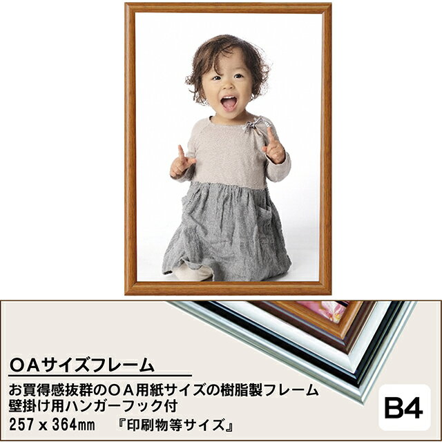 お買得B4(サイズ257×364mm)フレーム額縁(b4/B4/用紙/OAサイズ/フレーム/ポスターフレーム/額縁/額/額ぶち/パネル/壁掛けタイプ/シルバー/ブラック/ホワイト/ウッディダーク/ウッディライト/楽天/通販)