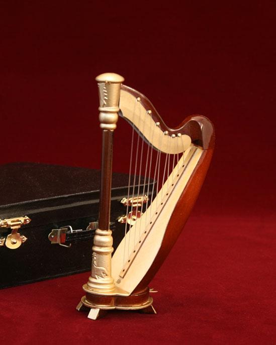 ハープ 15cm ミニチュア楽器
