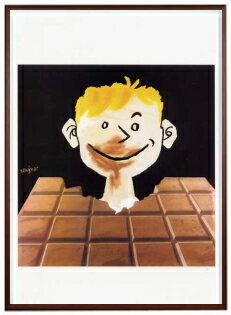アートポスター 額付 『 CHOCOLAT 』 サヴィニャック