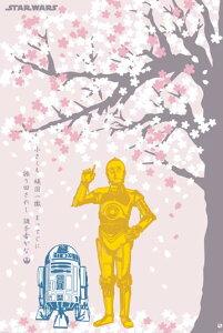 スターウォーズ ポスター STAR WARS(ルーカスフィルム監修) 和柄ポスター 桜