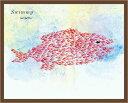 レオ・レオニ Leo Lionni (絵本の作家)ミニポスターフレームセット(ブラウン) /Swimmy Giant Fish(130305)