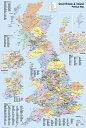 【送料¥290〜】 英国(グレートブリテン及び北アイルランド連合王国)地図 ポスター UK Map Political 【世界地図】(140620)