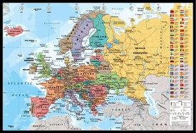 ヨーロッパ地図 ポスターフレームセット European Map 【世界地図】【191118】
