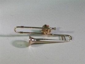 【送料¥250〜】 立体型ピンバッチ トロンボーン