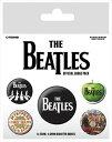 【送料¥216〜】 【ロンドン直輸入オフィシャルグッズ】ザ・ビートルズ カンバッチセット The Beatles (White)