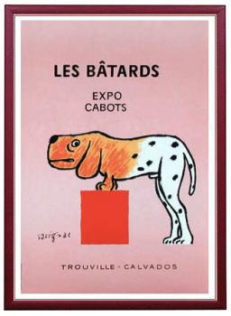 アート ポスター 額付 『 LES BATARDS 』 サヴィニャック