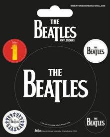 【送料¥250〜】 【ロンドン直輸入オフィシャルグッズ】ザ・ビートルズ ステッカー The Beatles (Black)