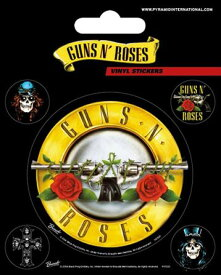 【送料¥250〜】 【ロンドン直輸入オフィシャルグッズ】ガンズ・アンド・ローゼズ ステッカー Guns N\' Roses (Bullet Logo)