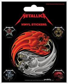 【送料¥250〜】 【ロンドン直輸入オフィシャルグッズ】メタリカ ステッカー Metallica (Yin & Yang Skulls - Pushead)