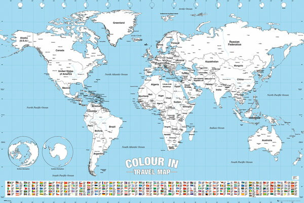 楽天市場】世界地図 ポスターの通販