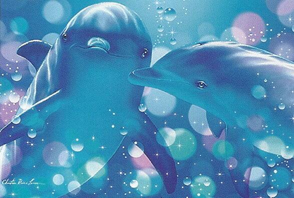 クリスチャン ラッセン(Christian Riese Lassen) 「Kissing Dolphins」 ポスター(170405)